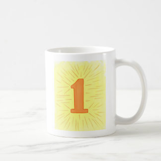 Number 1 in Orange and Yellow Mugs