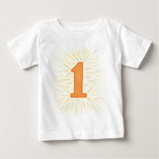 Number 1 in Orange and YellowTshirts Baby T-Shirt
