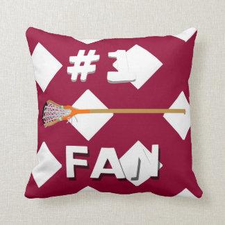 Number 1 Lacrosse DRW Fan Throw Pillow