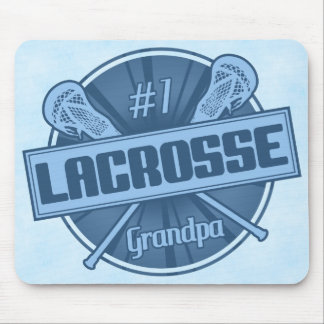 Number 1 Lacrosse Grandpa Mousemat Mouse Pad