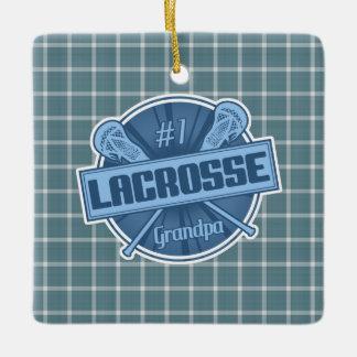 Number 1 Lacrosse Grandpa Ornament