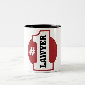 Number 1 Lawyer Two-Tone Coffee Mug
