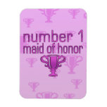 Number 1 Maid of Honor Flexible Magnet