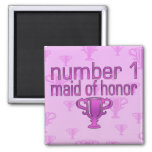 Number 1 Maid of Honor Fridge Magnets