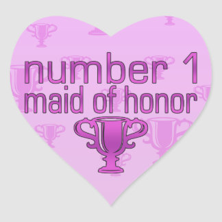 Number 1 Maid of Honor Heart Sticker