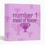 Number 1 Maid of Honor Vinyl Binder