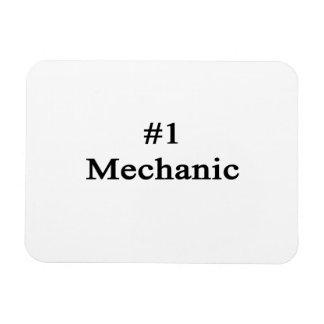 Number 1 Mechanic Rectangular Magnets