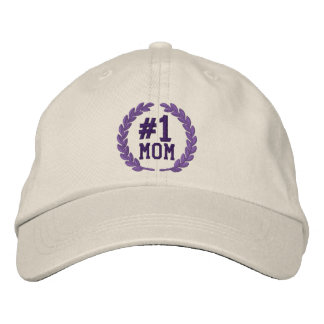 Number 1 MOM All Star Laurels Embroidery Embroidered Baseball Cap