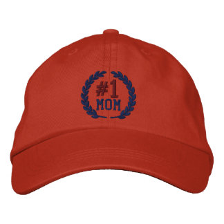 Number 1 MOM All Star Laurels Embroidery Embroidered Baseball Hat