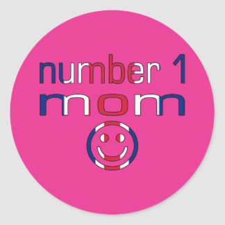 Number 1 Mom ( Mom's Birthday & Mother's Day ) Classic Round Sticker