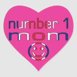 Number 1 Mom ( Mom's Birthday & Mother's Day ) Heart Sticker