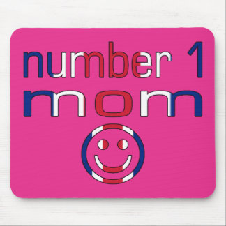 Number 1 Mom ( Mom's Birthday & Mother's Day ) Mouse Pad