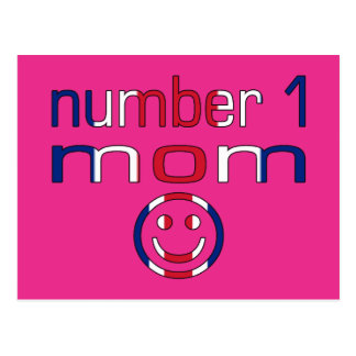 Number 1 Mom ( Mom's Birthday & Mother's Day ) Postcard