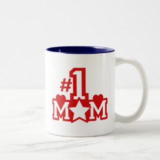 Number 1 Mom Two-Tone Coffee Mug