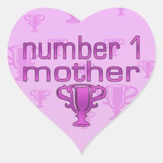 Number 1 Mother Heart Sticker