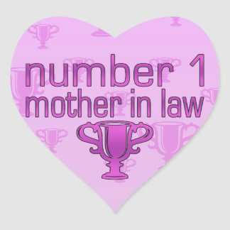 Number 1 Mother in Law Heart Sticker