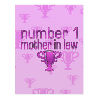 Number 1 Mother in Law Postcard