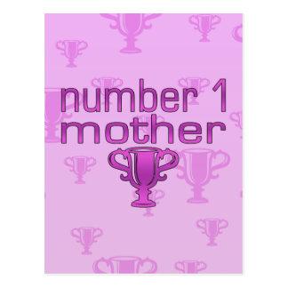 Number 1 Mother Postcard
