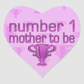 Number 1 Mother to Be Heart Sticker
