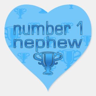 Number 1 Nephew Heart Sticker