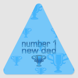 Number 1 New Dad Triangle Sticker