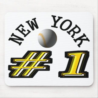 Number 1 New York Baseball Mouse Pad