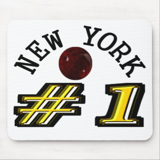 Number 1 New York Bowler Mouse Pad