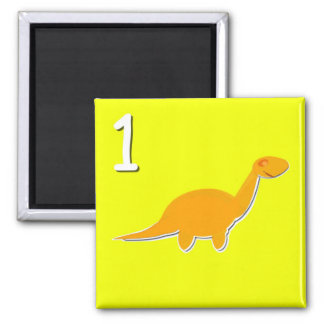 Number 1 One Dinosaur Counting Magnet