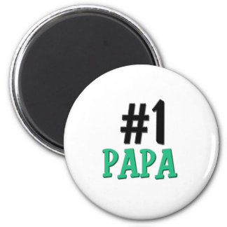 Number 1 Papa 2 Inch Round Magnet