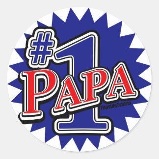 Number 1 Papa Classic Round Sticker