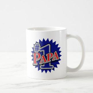 Number 1 Papa Classic White Coffee Mug