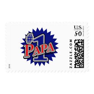Number 1 Papa Postage