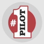 Number 1 Pilot Classic Round Sticker