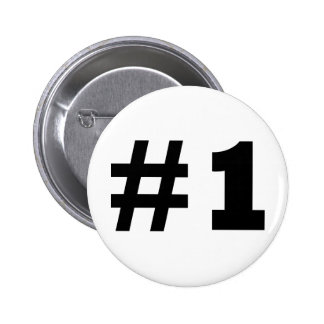 number 1 pinback button