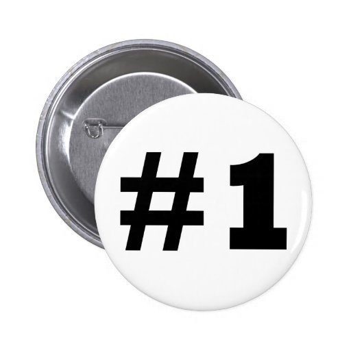 number 1 pinback buttons