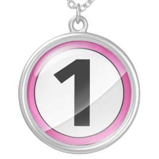 Number 1 pink necklace