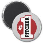 Number 1 Pitcher Refrigerator Magnets
