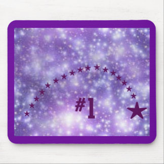 Number 1 Purple Star Mouse Pad