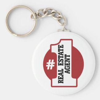Number 1 Real Estate Agent Keychain