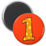 Number 1 refrigerator magnet