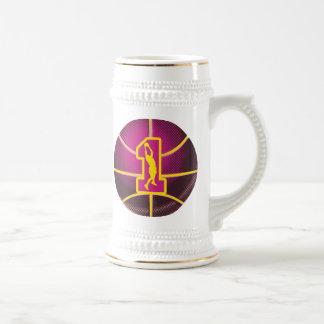Number 1  Retro Basketball Beer Stein