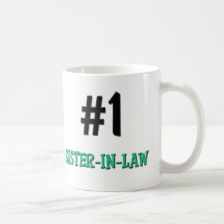 Number 1 Sister-in-Law Classic White Coffee Mug