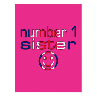 Number 1 Sister ( Sister's Birthday ) Postcard