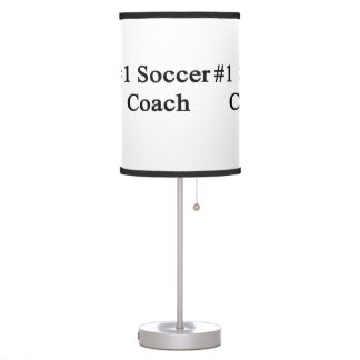 Number 1 Soccer Coach Table Lamps