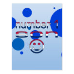 Number 1 Son in American Flag Colors Postcards