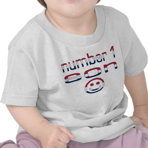 Number 1 Son in American Flag Colors Tshirts