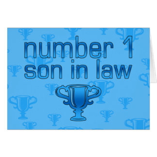 Number 1 Son in Law Card