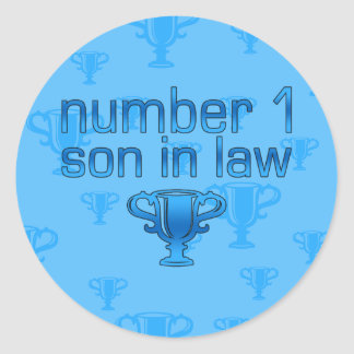 Number 1 Son in Law Classic Round Sticker