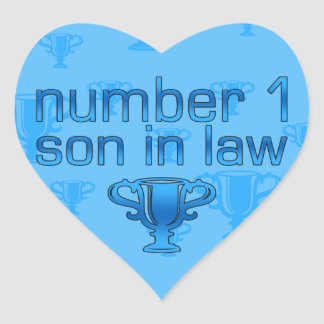 Number 1 Son in Law Heart Sticker