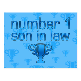 Number 1 Son in Law Postcard